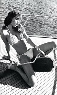 Adriana Lima boat deck